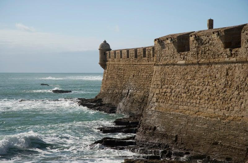 3 day itinerary Cadiz, San Sebastian Castle