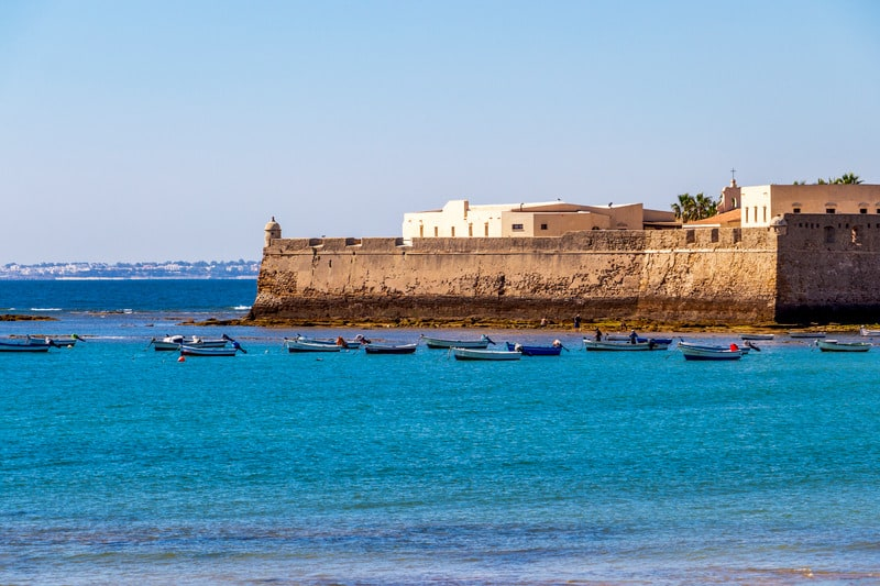 3 day itinerary Cadiz, Caleta beach
