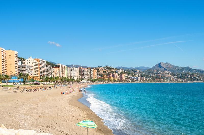 Best Beaches near Malaga, The Malagueta Beach