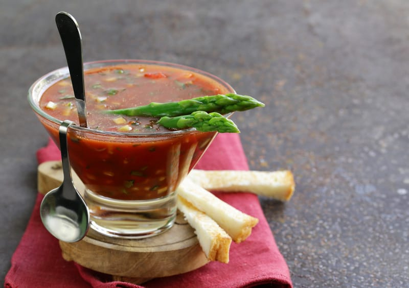Chunky Gazpacho recipe, best soups from spain