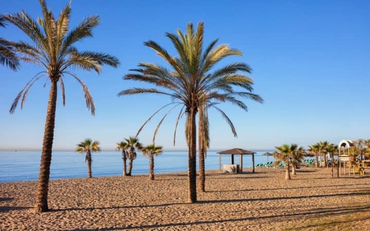 Beach in Marbella on Costa del Sol in Spain