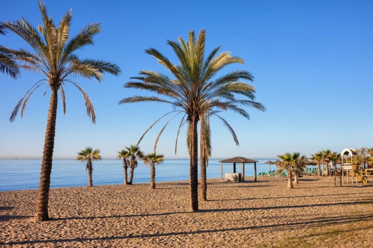 Beach in Marbella on Costa del Sol in Spain