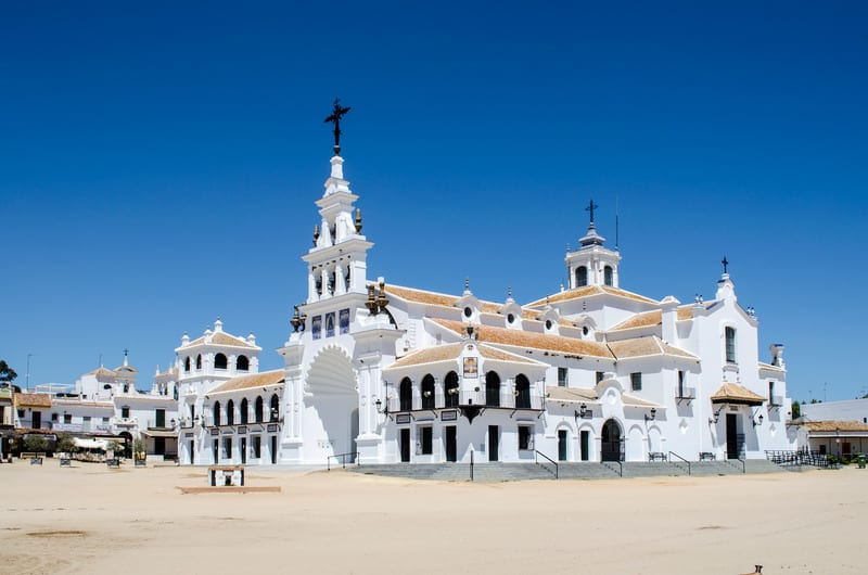 3 day itinerary Huelva, church, hermitage del Rocio