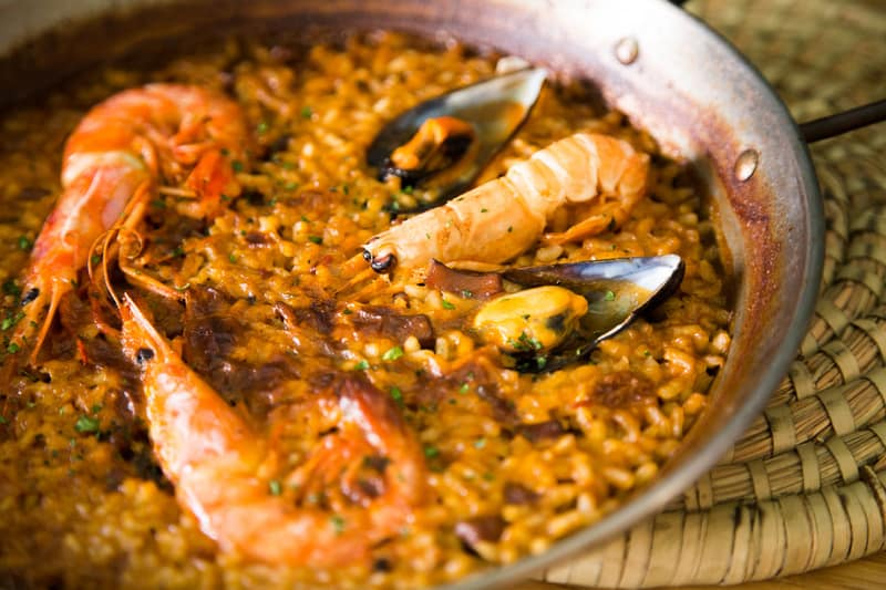 3 day itinerary Marbella, typical Spanish food, paellas in El Patio De Mariscal