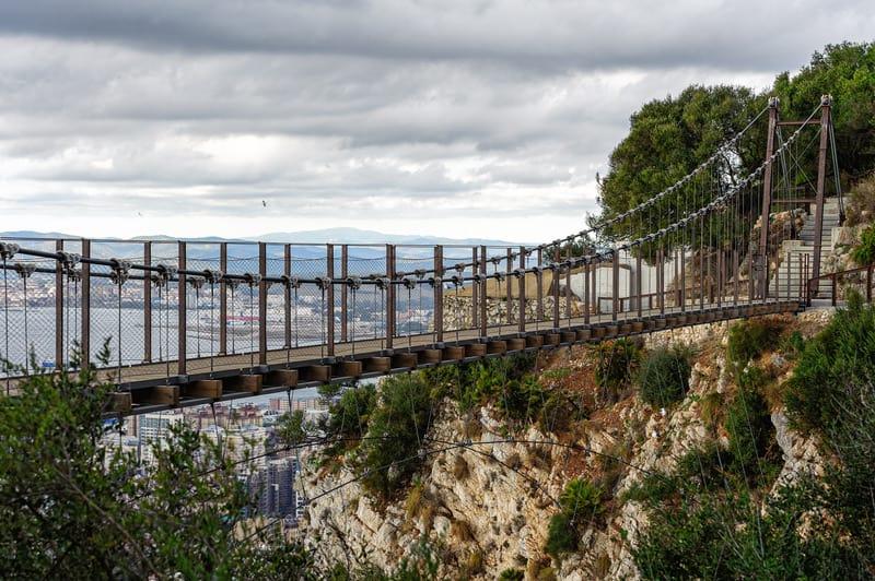Gibraltar itinerary, the Windsor Suspension Bridge
