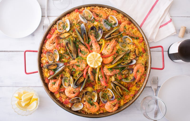 Traditional Paella in Seville, Spain