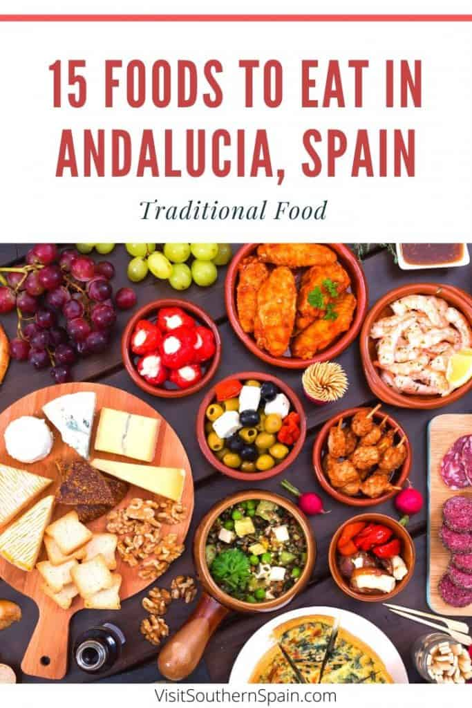 Are you looking for typical Andalusian food or traditional food from Southern Spain? We got you covered! Find an exquisite selection with the best dishes to try in Andalusia including famous cold soups from Spain, Malaga fish fritters and typical food from Seville, Cadiz, and Granada. If you are traveling to Southern Spain you cannot leave without trying the most typical Spain tapas #southernspain #andalucia #foodspain #foodiespain #foodtours #andalusia #spain #typicalfoodspain #traditonalfood