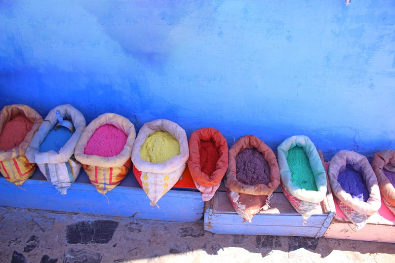 colorful spice in Morocco, day trip from tarifa to morocco