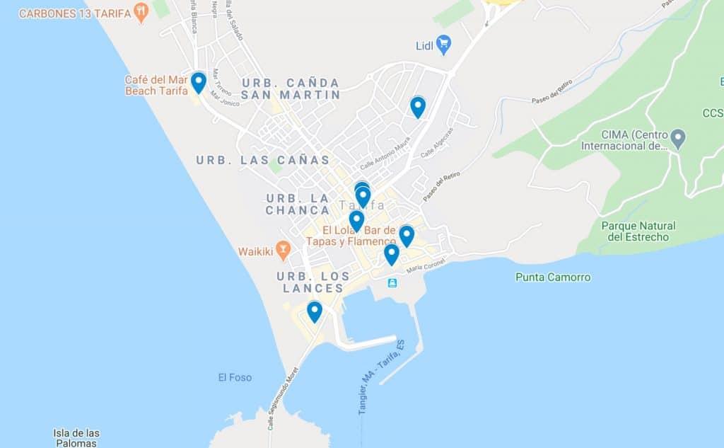 tarifa spain map