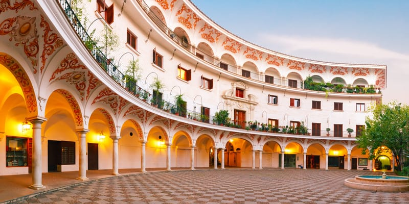 best boutique hotels in seville, spain, cabildo square in seville