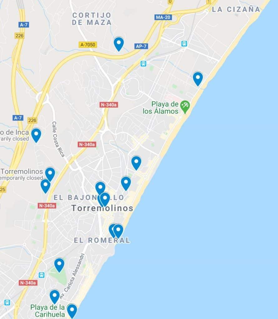 map torremolinos spain andalucia