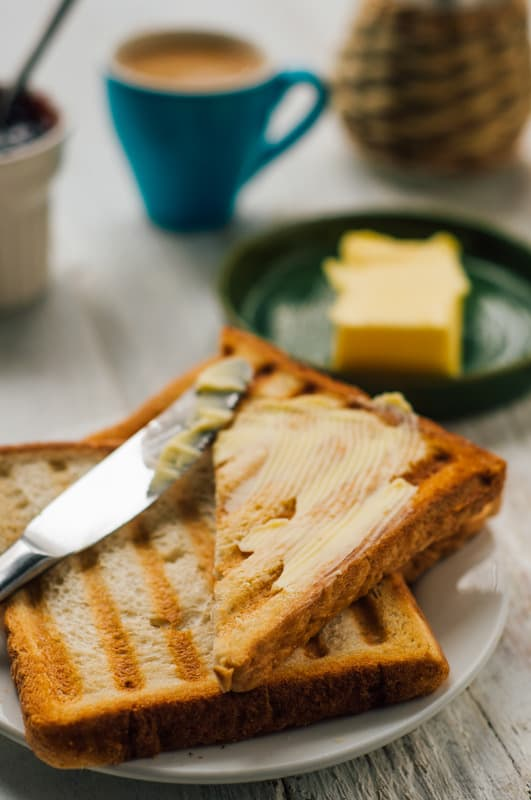 Fresh toast and coffee for breakfast in Cordoba, Spain
