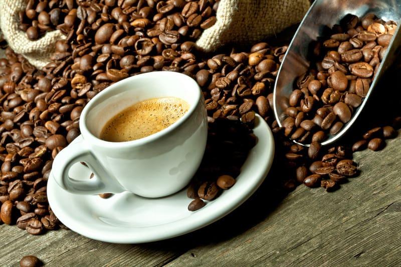 Delicious coffee in Malaga, Spain.