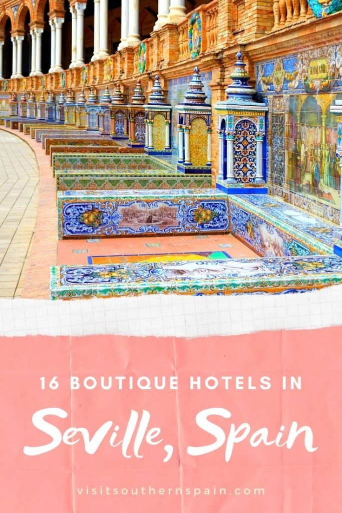 Are you looking for the best boutique hotels in Seville, Spain? We got you covered with this hotel guide including cheap boutique hotels and luxury boutique hotels. Some of these accommodation options are considered as the best hotels in Seville. Boutique Hotels in Sevilla a special due to their Andalusian flair and Spanish hospitality. Find the most beautiful hotel in Seville. What's your favorite place to stay in Seville, Andalusia? #spain #seville #sevilla #boutiquehotels #hotelsseville