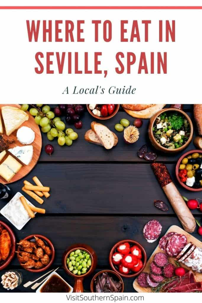 Are you wondering where to eat in Seville, Spain? Find a complete guide with the best restaurants in Seville, Southern Spain. No matter whether you are looking for the best tapas in Seville or where to eat brunch in Seville, this guide takes you to the top places to eat in Seville. If you are looking for the best places to eat in Seville when it comes to coffee or churros, you'll find the best bars recommended by a local! #seville #sevillefood #sevillerestaurants #wheretoeatinseville #tapas
