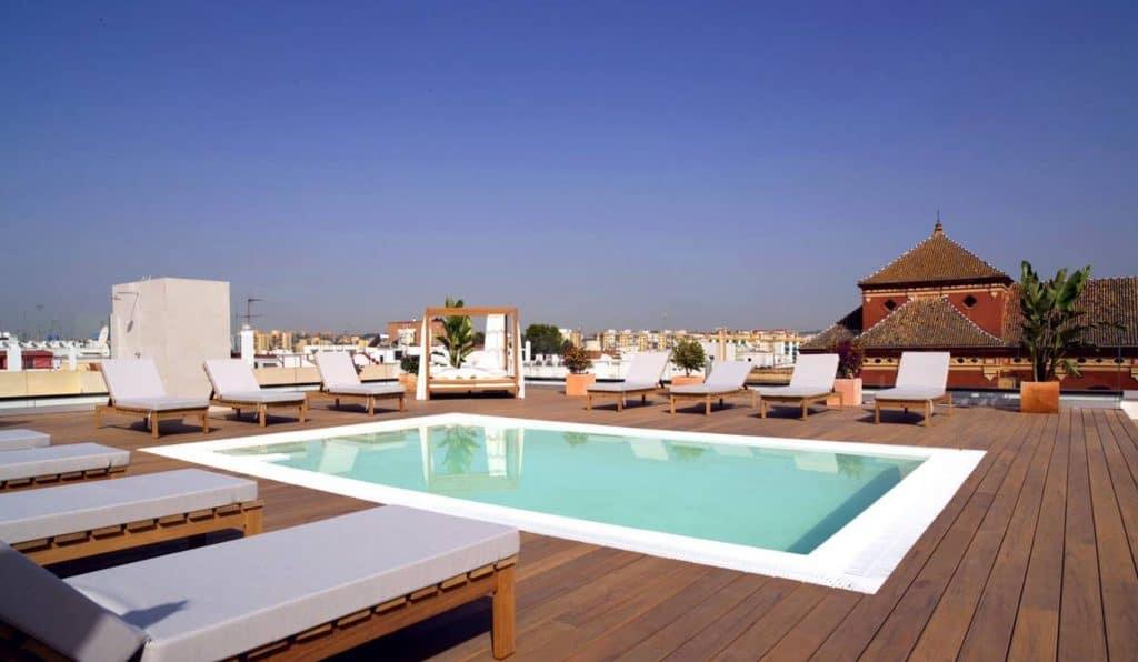 zenit hotel sevilla, hotels with swimming pools sevilla