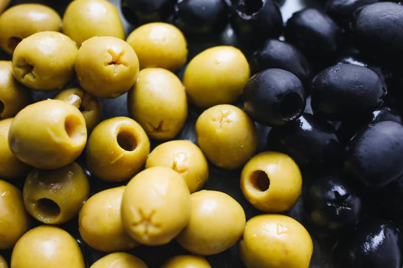 Delicious and well-known Olives, from Malaga, Spain