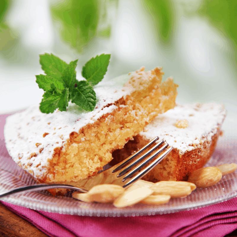 Tasty and traditional Cuajada de Carnaval in Granada, Spain