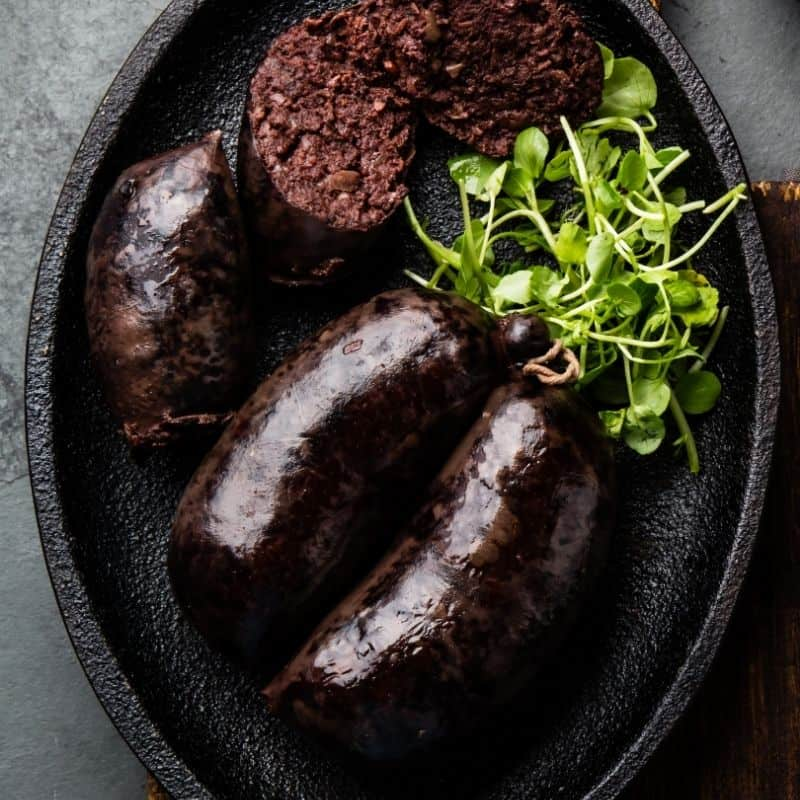 Delicious and traditional Morcilla in Cordoba, Spain, what to eat in cordoba