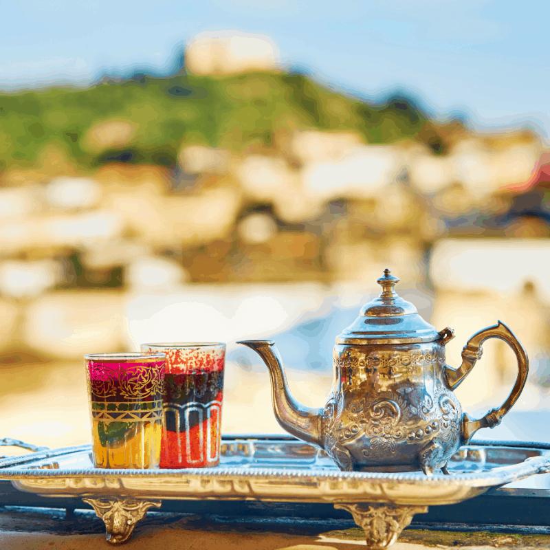 A sip of delicious Moroccan Tea in Granada, Spain