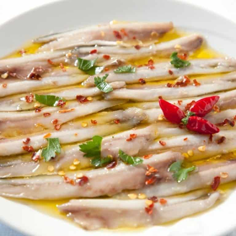boquerones en vinagre, anchovies in vinagre from spain