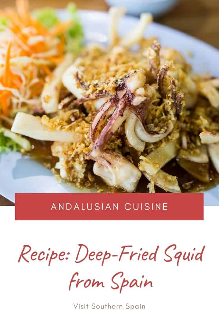 Are you looking for the ultimate fried baby squid recipe from Spain? This popular seafood tapas from Andalusia is a staple on the Mediterranean coast. No wonder that this Spanish recipe is now copied all over the world. Deep-fried baby squid can be easily be made at home and bring some real Spanish flavors to your home. Whether you want to do Spanish tapas recipes or just get inspired for easy Spanish recipes at home, this one is easy to make in less than 30min. #babysquid #friedbabysquid #spain