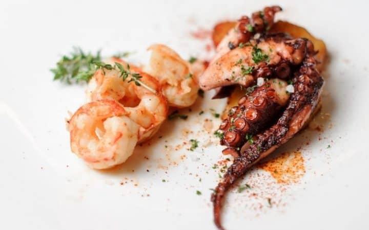 fried octopus, pulpo frito