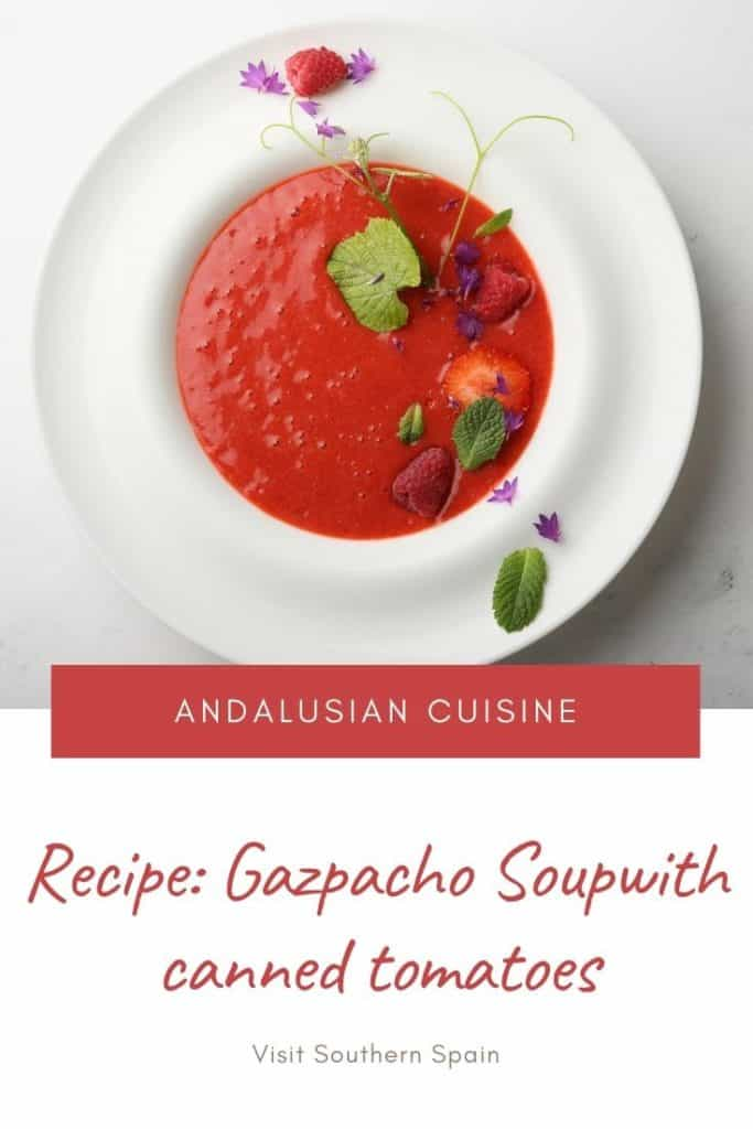 Gazpacho Soup With Canned Tomatoes - Spanish Recipe