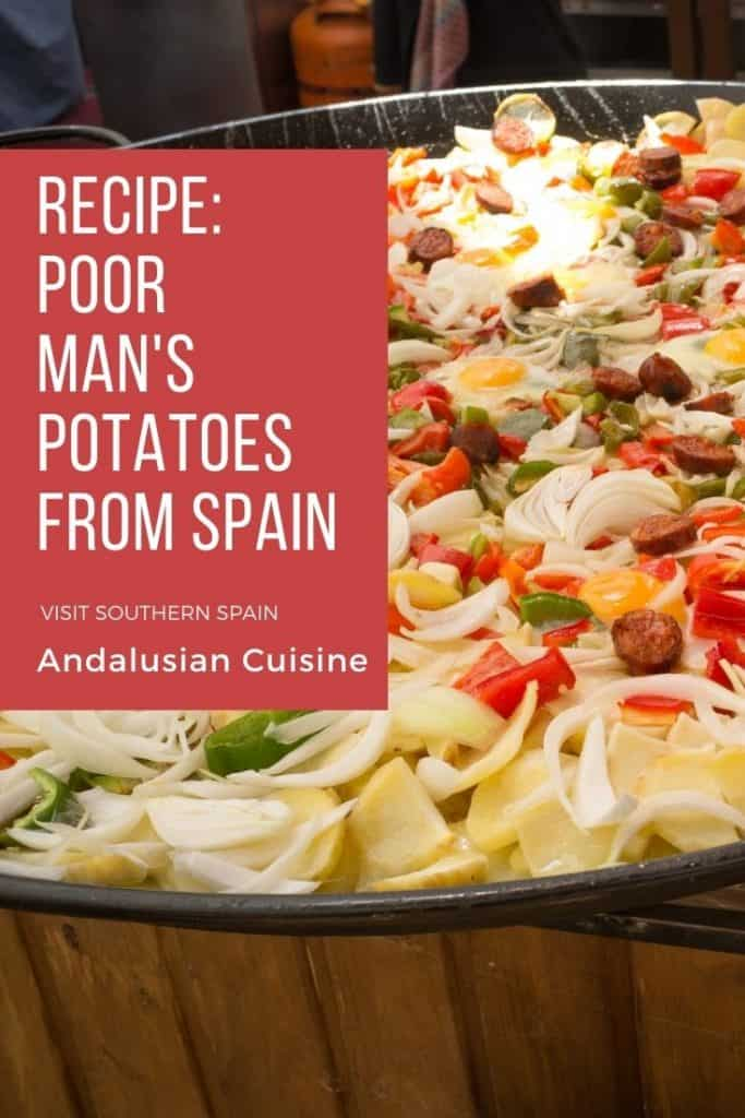 "Are you looking for the ultimate patatas a lo pobre recipe? This Spanish dish is one of the easiest dishes to make. It's hearty and can definitely be one of your next favorite comfort foods. This is also a great idea when looking for Spanish vegetarian dishes as you can skip the meat. Translated as ""poor man's potatoes"" recipe this recipe is best when only having a few ingredients at home. Also going by the name of ""poor man's potato casserole"" this is a a typical dish from Spain you'll love!"