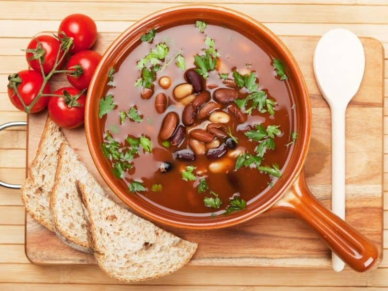 typicl food from andalusia, spansih bean soup