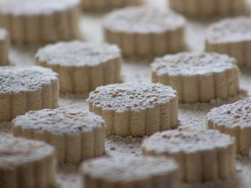 Christmas sweets typical of Spain_ _Polvorones or Mantecados