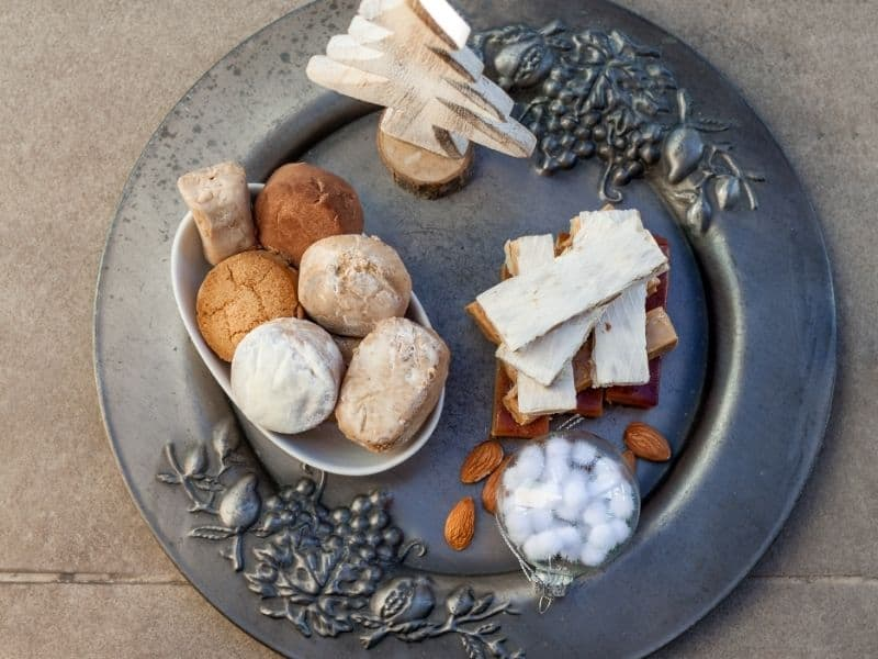 Turron, mantecados and polvorones, typical spanish christmas sweets
