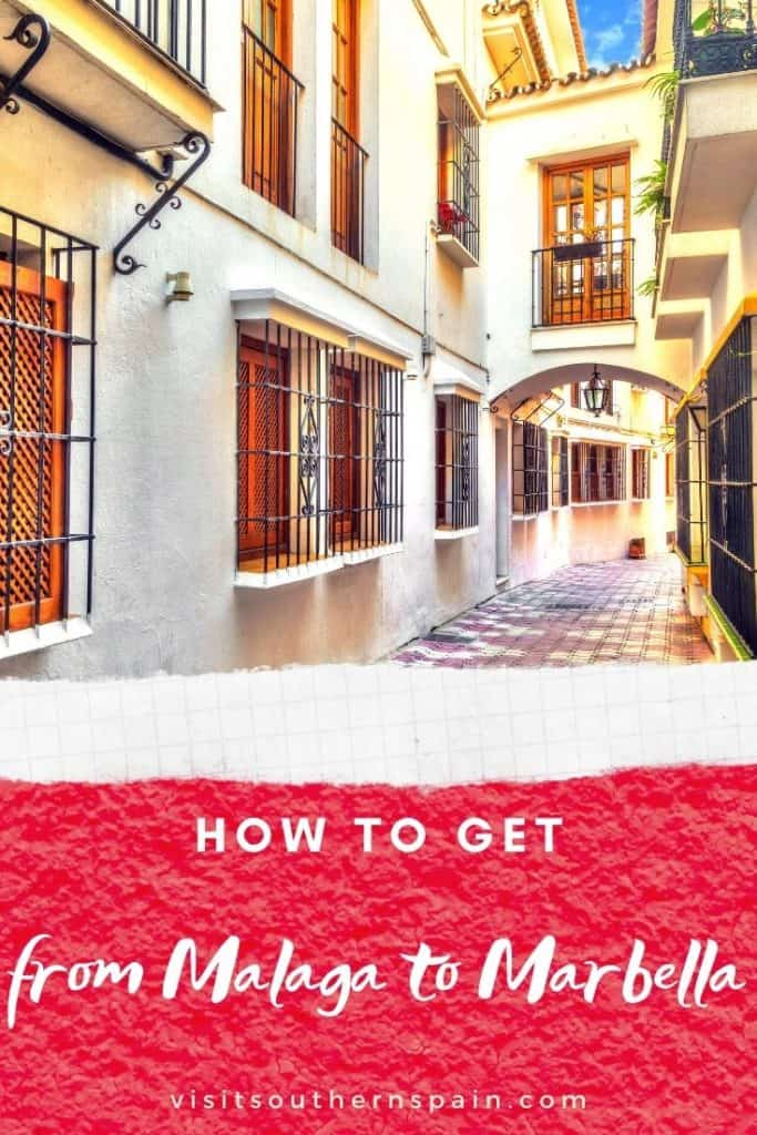 Are you wondering whether to go to Marbella or Malaga? Well, you can have both! This is the ultimate guide on how to get from Malaga to Marbella. Whether you are planning to get to Marbella by bus or visit Marbella by train, this gives you all the information. Also if you're planning to land in Malaga airport and travel from Malaga airport to Marbella, there's an easy way! Get also the best tips to travel from Marbella to Malaga by car. #costadelsol #frommalagatomarbella #marbella #malaga #spain