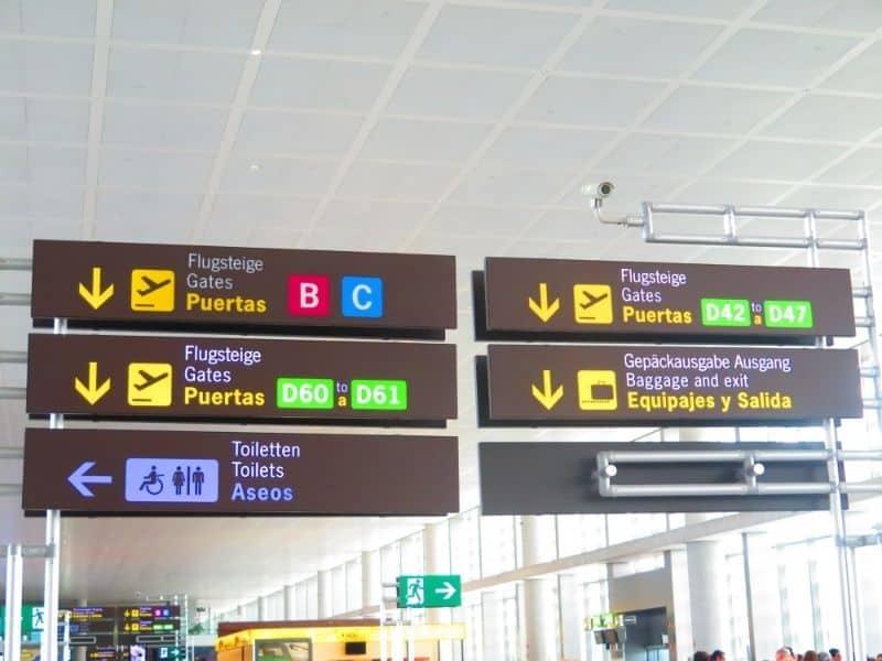 malaga airport spain