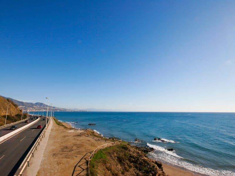 spain coastal highway driving, Malaga to Marbella by Car