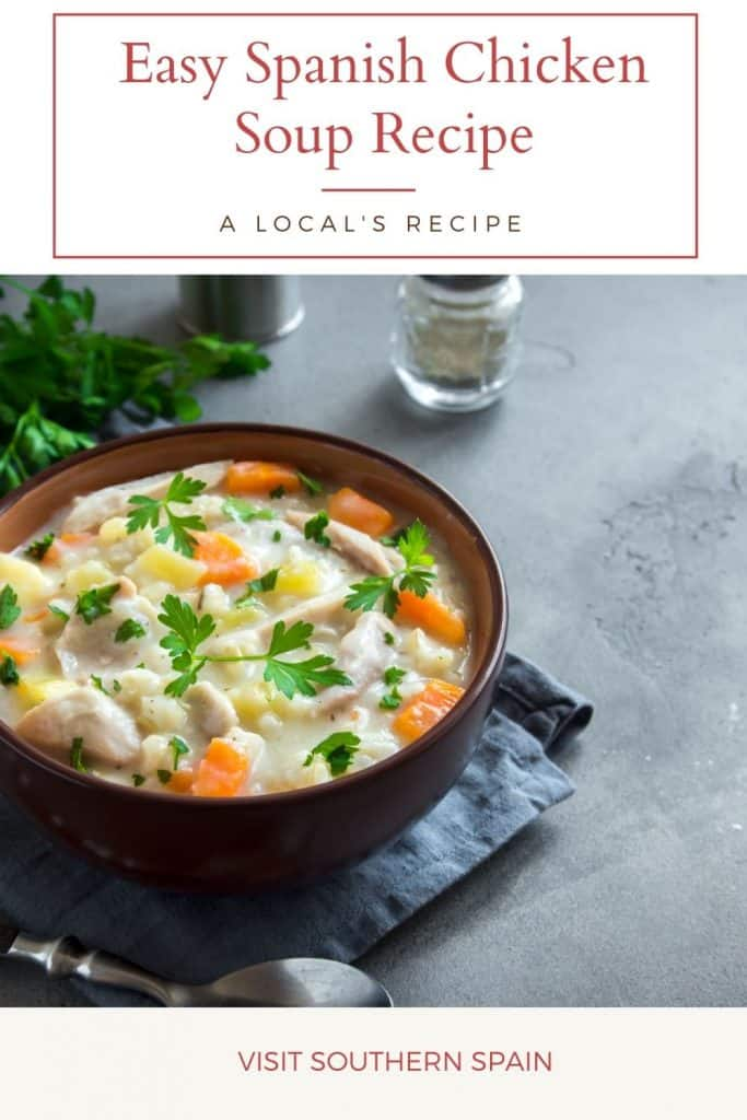If you're looking for a Spanish Chicken recipe, you can't skip the typical Spanish Chicken Soup! This is Spanish recipe is the base for the legendary Spanish Chicken Noodle Soup or a Spanish Chicken Rice Soup. It's a warming and easy Spanish soup that can also be used along with other Spanish chicken thigh recipes. There are many variations of this Spanish chicken soup such as Spanish chicken soup with rice or a Spanish chicken soup crock pot. #spanishchickensoup #spanishsoups #spanishchickenrecipes