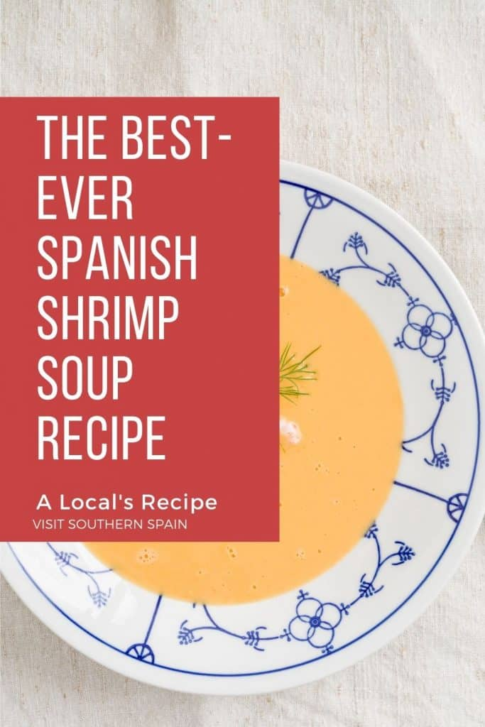 Are you looking for easy Spanish Shrimp recipes? Then you must try our Spanish shrimp soup recipe! It's easy and so tasty! It's a great base recipe that you can also use for Spanish Shrimp and rice dishes. Indeed rice or noodles as optional with this one. You can make this Spanish shrimp recipe with a blended soup but you can also keep your Spanish shrimps intact. As said, it's very customizable and one of the best Spanish soups. #spanishshrimpsoup #spanishsoups #spanishshrimprecipes