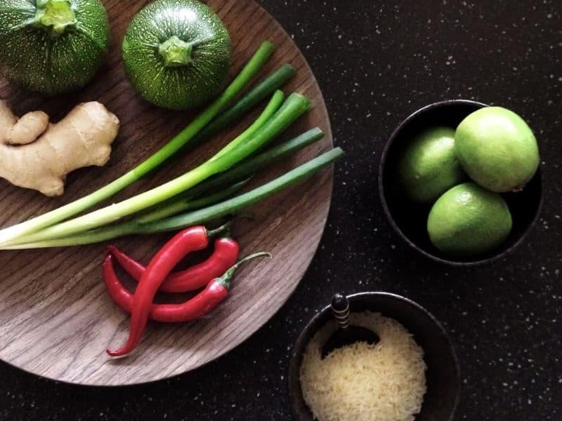 vegetables dark background