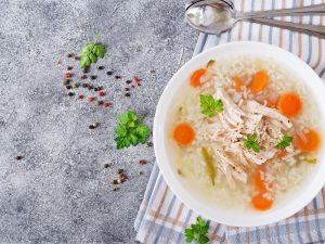 Simple Spanish Chicken Soup With Rice Recipe