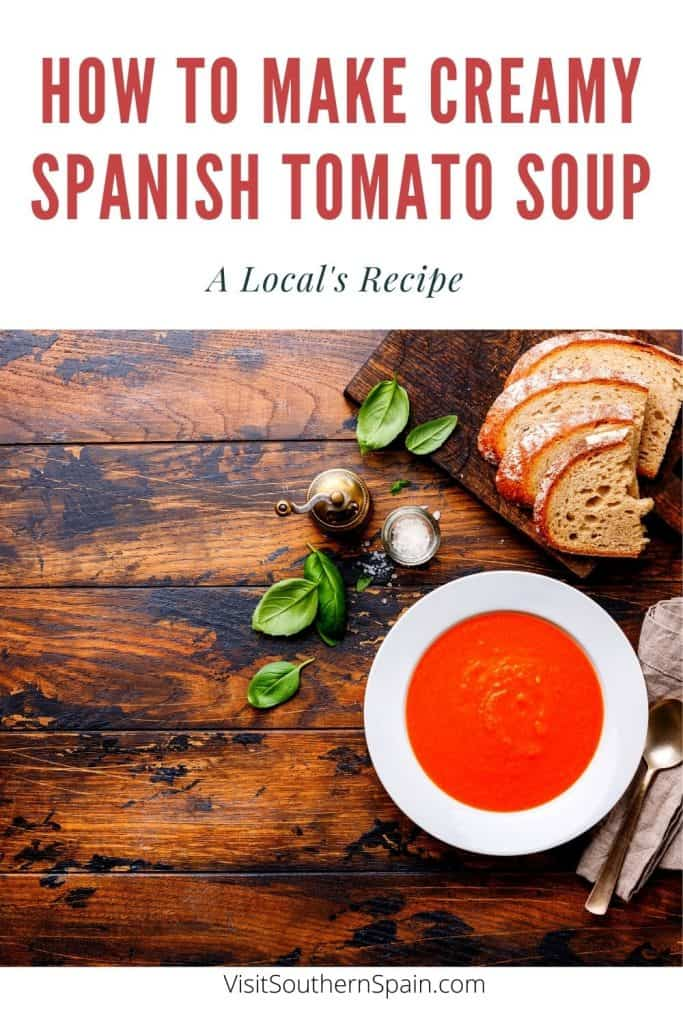 Looking for the best creamy Spanish tomato soup recipe? This Spanish soup recipe is not only super creamy but also quick and easy to do. A classic of Spanish soups! Spanish tomato soup is a staple in southern Spain and in this recipe you'll get one of the simplest ways to do this creamy Spanish soup. This Spanish soup recipe can also be used as a base for a Spanish rice with tomato soup recipe. The best is to serve with warm Spanish bread. #spanishsoups #spanishtomatosoup #spanishfood #spanishfood