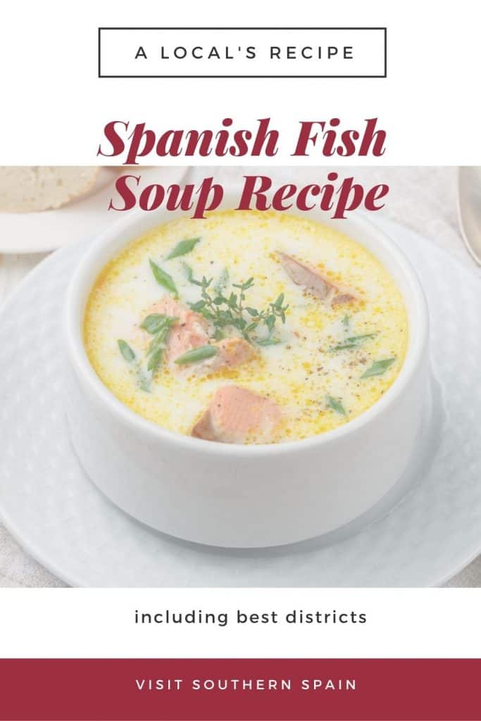 When looking for Spanish fish dishes, you can't skip this Spanish fish soup. It's one of the most popular Spanish fish recipes out there! It's an easy Spanish soup that's very popular in the towns of Southern Spain. On top, this Spanish soup recipe is very healthy and comes with many benefits for your health. This Spanish soup recipe can also be used for a Spanish fish stew. You can use the fish of your liking and amend spices. #spanishsoups #spanishfishsoup #spanishfishrecipes #spanishfishdish