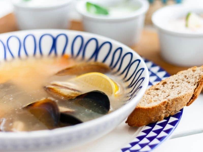 spanish seafood marisco soup