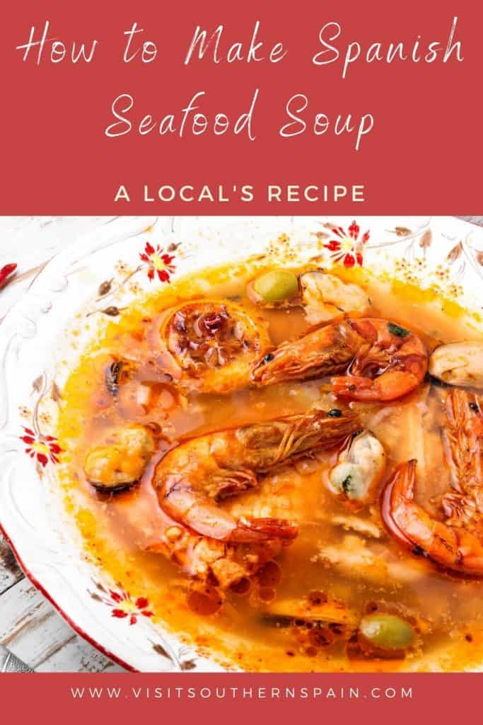Are you looking for the best Spanish seafood soup recipe? This is one of the most popular Spanish seafood recipes of all time. It's an easy and warming seafood soup from Spain that keeps you warm during the cold days. It's healthy as it comes with plenty of benefits for your body. Indeed, Spanish seafood soup boasts many minerals and vitamins. This recipe can also be used for Spanish seafood stew. Bring a piece of Spain to your home with this tasty Spanish soup. #spanishsoup #spanishseafoodsoup