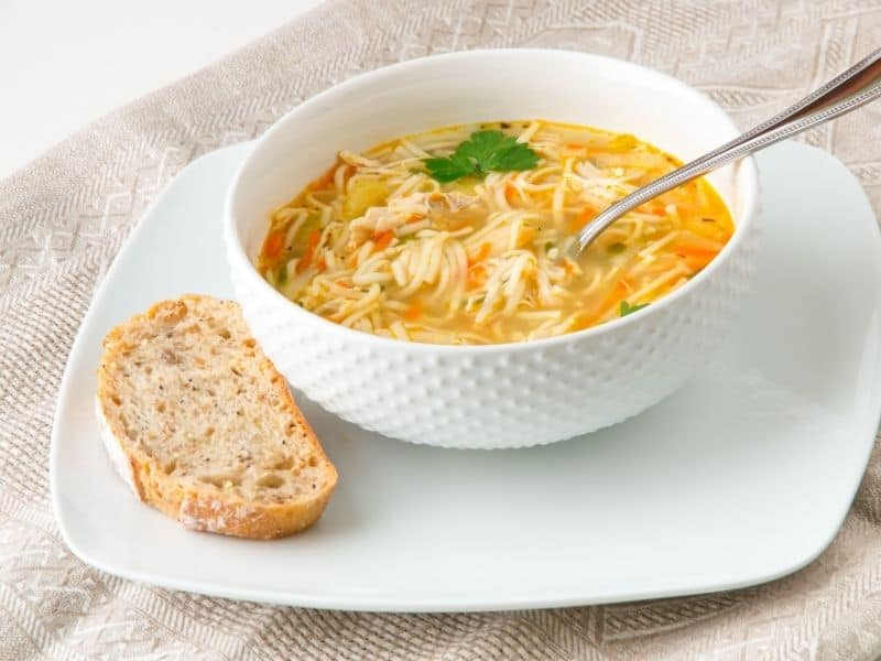 Spanish Chicken noodle soup