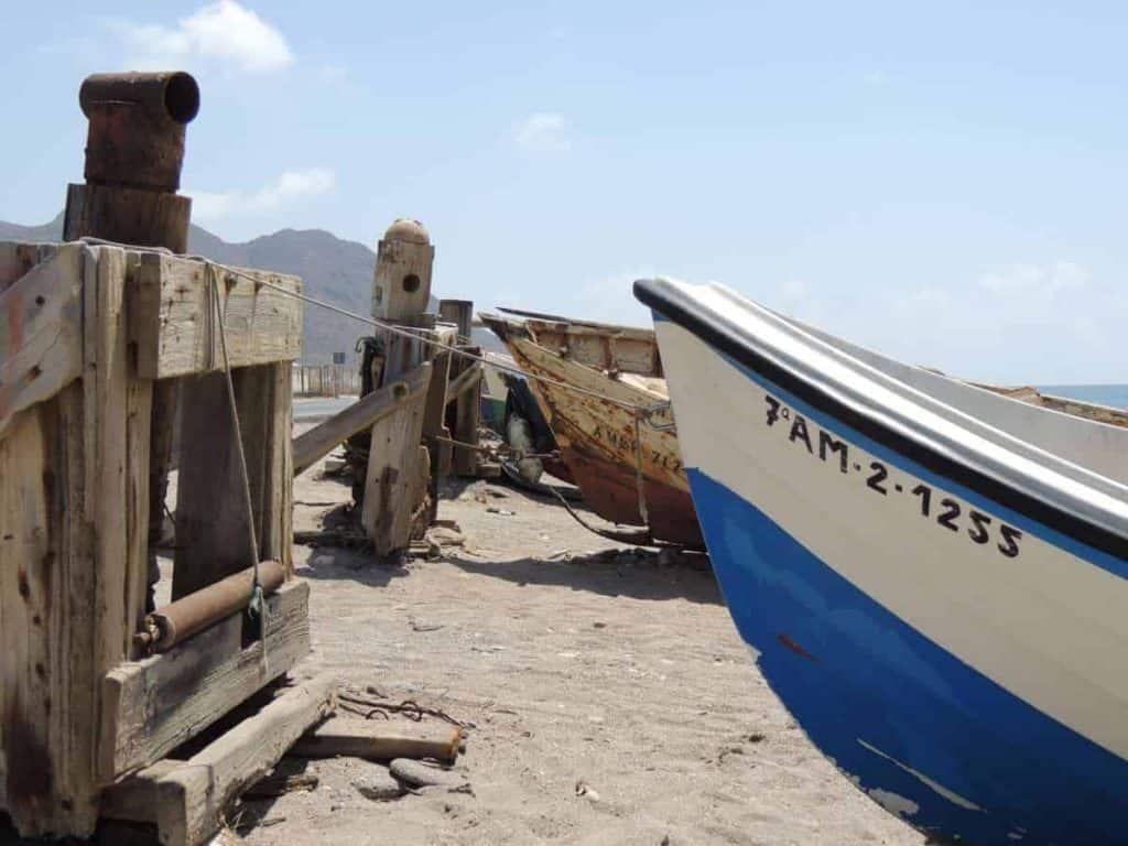 boats in cabo de gata almeria spain