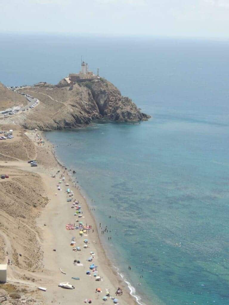 lighthouse cabo gata almeria spain