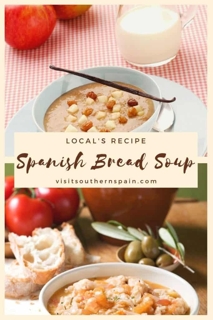 Are you wondering how to make Spanish bread soup? This is an easy Spanish soup recipe that you can make at home. If you're looking for easy Spanish recipes this one is a great idea! Indeed it's one of the most popular Spanish soups. It's easy to make and tasty. It can be served in bread soup bowls which is a creative way of serving this healthy Spanish soup.. It's also one of the top Andalusian foods out there! #spanishsoups #spanishbreadsoup #breadsoup #souprecipes