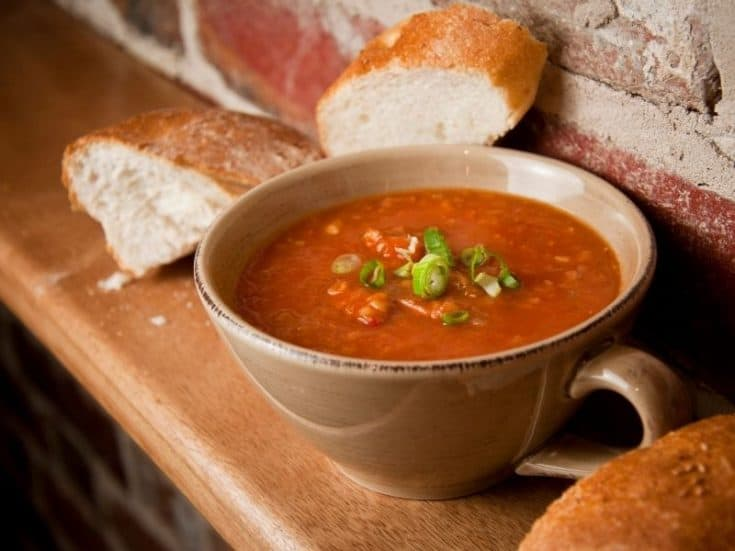 spanish chorizo soup recipe closeup
