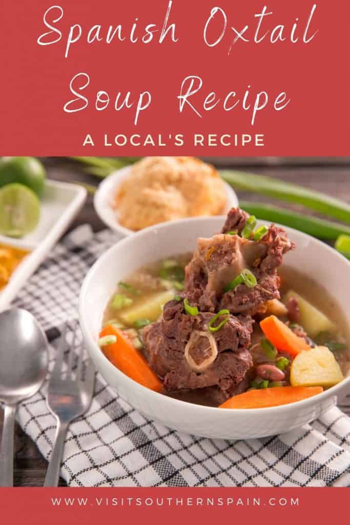Are you looking for the best Spanish Oxtail soup recipe? This is a staple among Spanish oxtail recipes! This Spanish meat recipe works also perfectly for an oxtail soup instant pot or an oxtail soup crockpot from Spain. If you're looking for Spanish oxtail recipes, this one is a must! Later on it can also serve as a base for the legendary Spanish oxtail stew or a Spanish oxtail recipes crockpot. One of the easiest Spanish meat recipes. #oxtailsoup #spanishoxtailsoup #spanishoxtailrecipes #oxtail