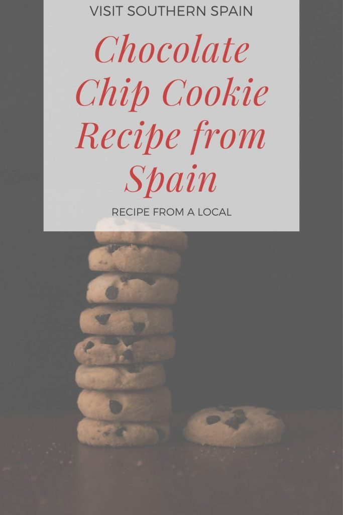 Are you looking for a Spanish Chocolate Chip Cookie Recipe? This is the easiest chocolate chip cookie recipe that you'll find online. This chewy chocolate chip recipe is simple to make and will satisfy the sweet tooth of your entire family. If you're looking for a quick and delicious dessert then you can't go wrong with our authentic Spanish chocolate chip cookie. For the chocolate lover, this is the ultimate chocolate chip cookie recipe. #chocolatechipcookie #spanishrecipe #cookie